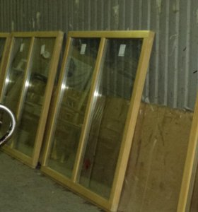 Окна деревянные.