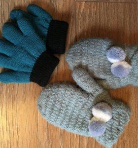 Перчатки варежки детские