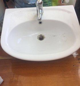 Раковина cersanit с краном для ванной