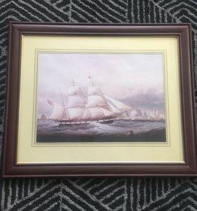 Картина репродукция корабль
