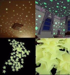 """наклейки """"Звездное небо"""" для потолка или стен"""