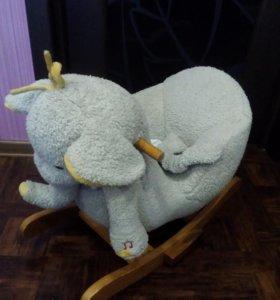 Детская качалка слоник