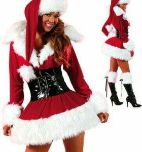 Карнавальный костюм снегорочка