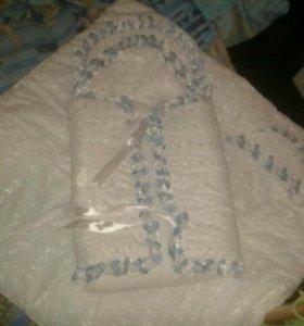 Конверт и одеяло на выписку малыша