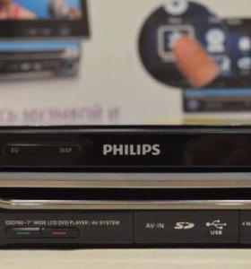 """Магнитола Philips 7"""" ЖК-дисплей TFT сенсор электро"""