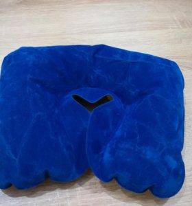 Ортопедическая подушка синяя