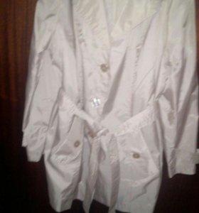 Куртка удлинённая женская новая лёгкая