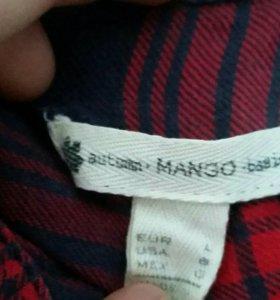 Рубашка в клетку МANGO oversize