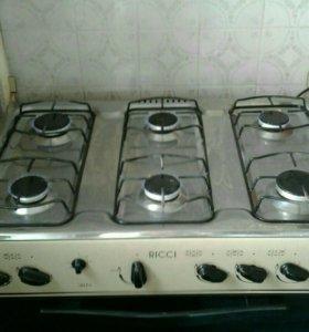 Плита газовая 6 конфорок ricci