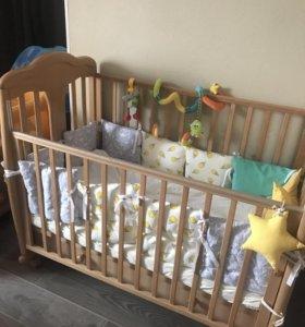 Детская кроватка Гандылян Мишель + матрас