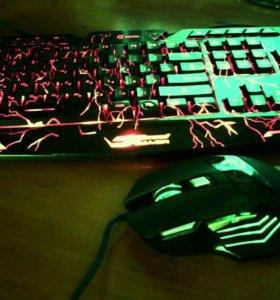 Клавиатура и мышка игровые