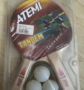2 ракетки для настольного тенниса, 3 мяча