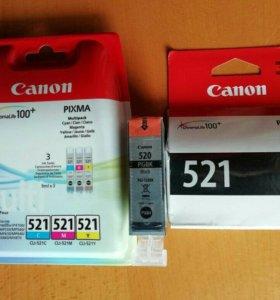Комплект новых картриджей для Canon