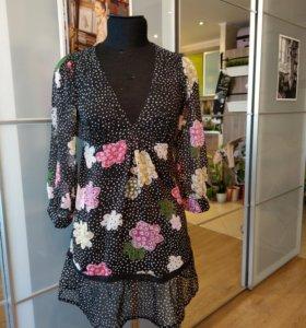 Шифоновая блуза размер 42-44