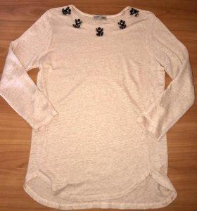 Блуза Zara бледно розовая