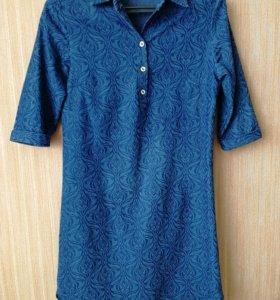 Платье-рубашка джинс для беременных, р.44