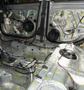 Шумоизоляция автомобиля ( частичная ) полная