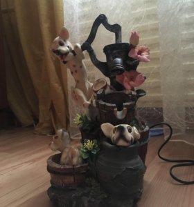 Фонтан с собачками