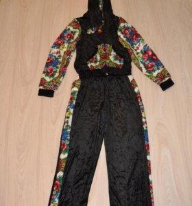 спортивный бархатный костюм