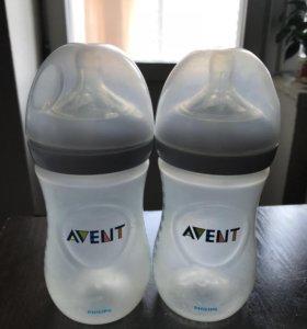 Продам две бутылочки Авент по 260 мл