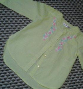 Стильная рубашка от 1-2лет.
