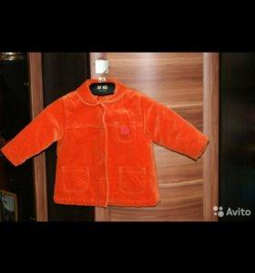 Велюровое пальто NEXT