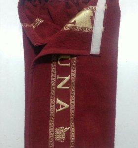 Мужской набор для бани (килт, полотенце), хлопок