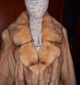 Шуба норка пальто из норки
