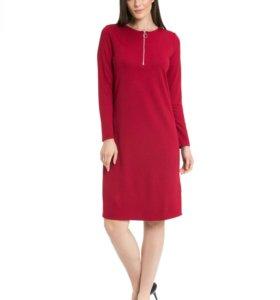 Платье красное. Новое с длинным рукавом.