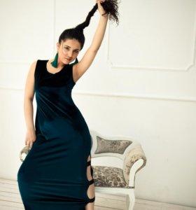 Платье резинка велюр