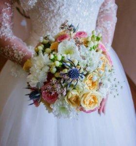 Свадебное платье +балеро