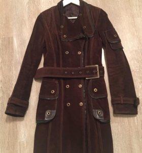 Замшевое пальто