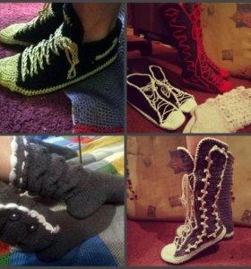 Вязанные домашняя обувь(договорная)