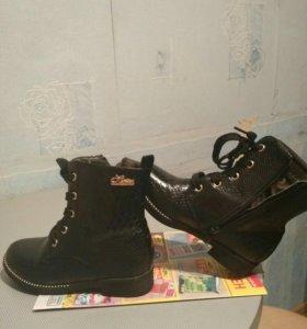 Демисезонные ботинки для девочки, размер 32