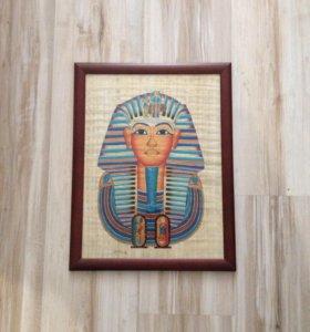 Папирус в рамке Тутанхамон