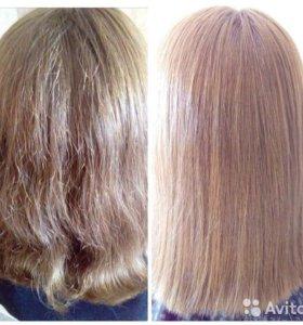 Кератиновое выпрямление волос!!!