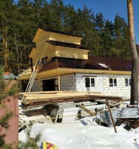Строительство крыши , мансандры дома