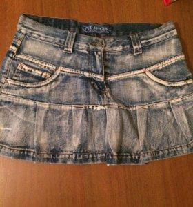 Юбка джинсовая, р-р S