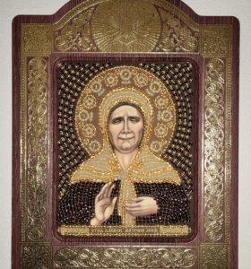 Икона бисером «Блаженная Матрона Московская»