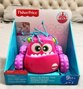 Fisher Price монстр интерактивная игрушка с 9 меся