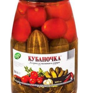 Консервированное ассорти Кубаночка 1,7л доставка