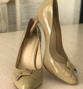Туфли натуральный лак бежевые