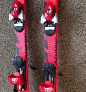 Горные лыжи и ботинки в хорошем состоянии