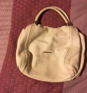 Летняя кожаная итальянская сумка