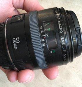 Объектив Canon 50mm macro