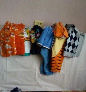 Рубашки, костюмы, джинсы, футболки.