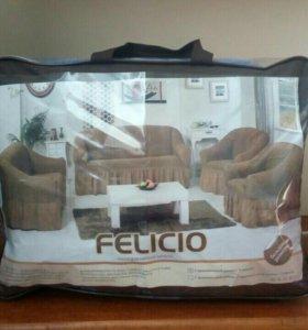 Плед диван+два кресла