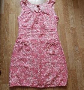 Платье сарафан лён 48 размер новое
