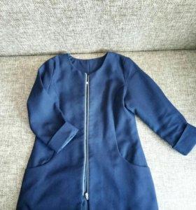 Пиджак на девочку школьный, синий