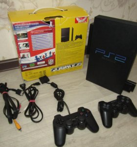 PS2 FAT 80gb IDE адаптер игры 2 джоя